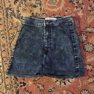 American Apparel stretch denim shorts